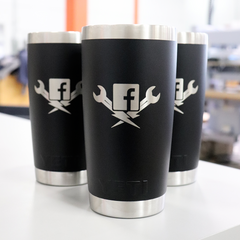 Custom YETI Cups with Engraved Logos