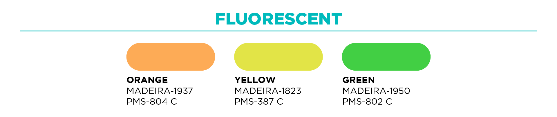 Fluorescent and Hi Vis Thready Color Options for Embroidery