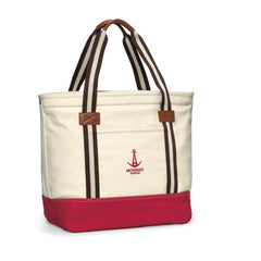 Heritage Supply Natural Red Catalina Cotton Tote