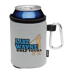 KOOZIE Grey Collapsible Can Kooler with Carabiner