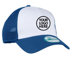 New Era 9FORTY White and Royal Snapback Contrast Front Mesh Cap