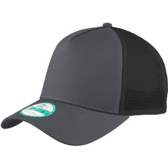 New Era Graphite Black Snapback Mesh Back Trucker Cap