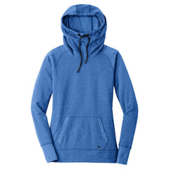 New Era Women's Royal Heather Tri-Blend Fleece Pullover Hoodie