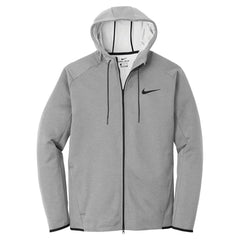 Nike Men's Grey Therma-FIT Textured Fleece Full-Zip Hoodie