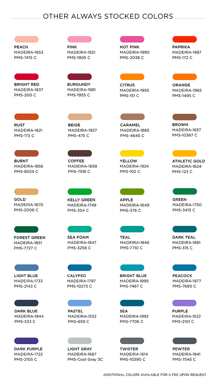 Pantone Matching System And Color Chart Merchology