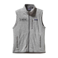 Men's Large Patagonia Better Sweater Vest with Custom Embroidered Logo