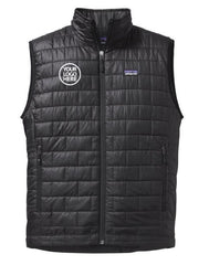 Men's Black Patagonia Nano Puff Vest with Custom Embroidered Logo