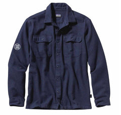 Patagonia Men's Navy Blue Long Sleeve Fjord Flannel Shirt
