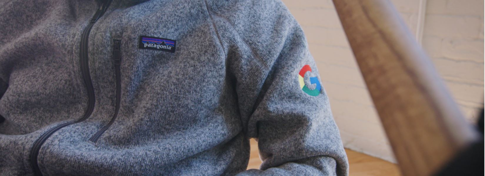 Custom Patagonia Better Sweater with Embroidered Google Logo