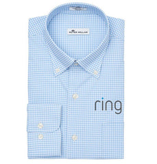 Peter Millar Men's Cottage Blue Mimi Performance Check Woven