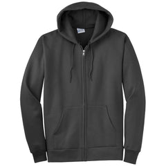 Port & Company Charcoal Ultimate Full Zip Hooded Sweatshirt
