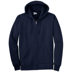 Port & Company Navy Ultimate Full Zip Hooded Sweatshirt