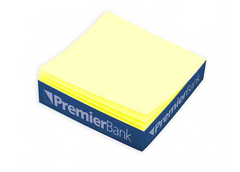 Post-It Canary Yellow Custom Printed Notes Quarter Cube