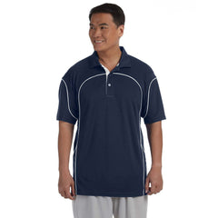 Russell Athletic Men's Navy and White Team Prestige Rugby Polo