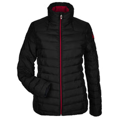 Spyder Women's Black and Red Supreme Puffer jacket