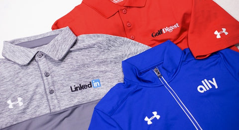 Custom Embroidered Under Armour Polos and Sweatshirts