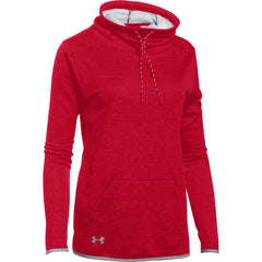 Under Armour Women's Red Full Heather Novelty Funnel Neck Hoody