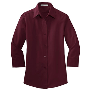 Custom 3/4 Sleeve Dress Shirts Women