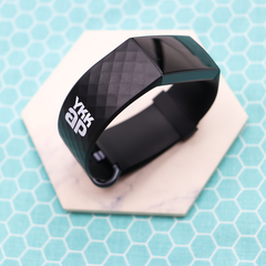 Custom Fitbit Fitness Tracker with Pad Printed Company Logo