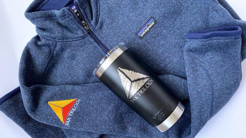 Patagonia Sweater and YETI Cup for Gift Package