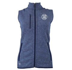 Zusa Women's True Navy Heather Midtown Fleece Vest