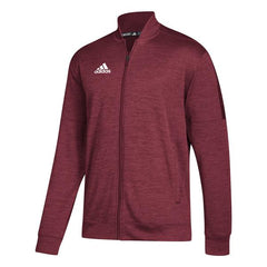 adidas Men's Collegiate Burgundy Melange Team Issue Bomber Jacket