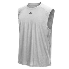 adidas Men's Grey Performance Sleeveless Climalite Tee