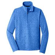 Add your company's embroidered logo to create corporate Port Authority quarter-zips for men