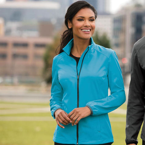 Create corporate branded Port Authority jackets for women with Merchology