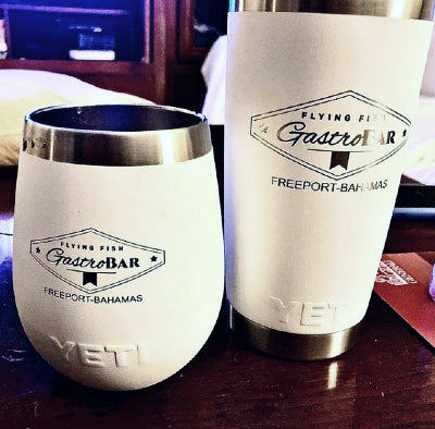 Add your company logo to custom water bottles, tumblers, wine tumblers, and more