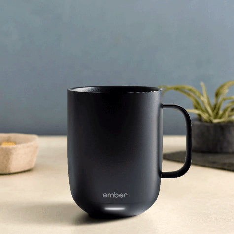 In stock and available now, shop corporate branded Ember Temperature Control coffee mugs