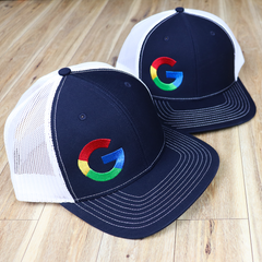Custom Embroidered Richardson Hats with Google Logo