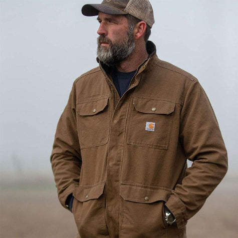 Shop custom men's Carhartt work jackets and branded work vests today from Merchology