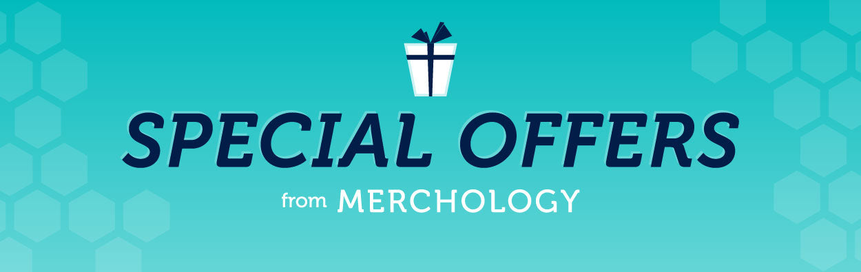 From bulk volume discounts to free logo branding decoration, learn more about the sale offers from Merchology