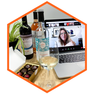 Bring your team together whether working in the office or working remote with an online wine tasting experience with Merchology