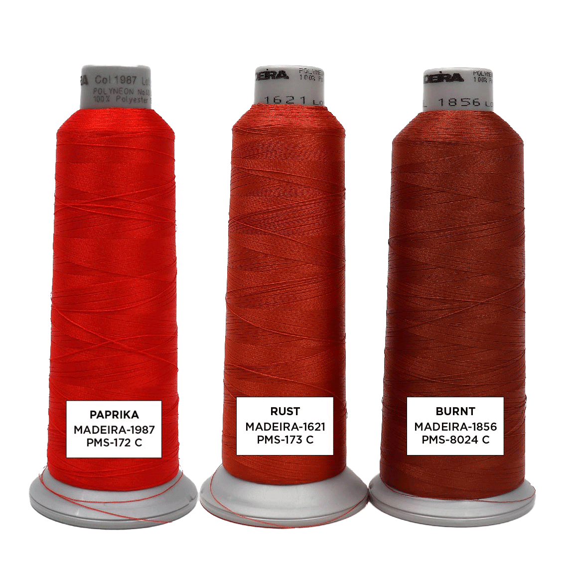 Orange Red Embroidery Thread Colors