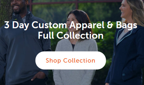 Arriving to your company in just 3 days, the Quick Ship collection of Under Armour polos, Zusa sweaters, and more