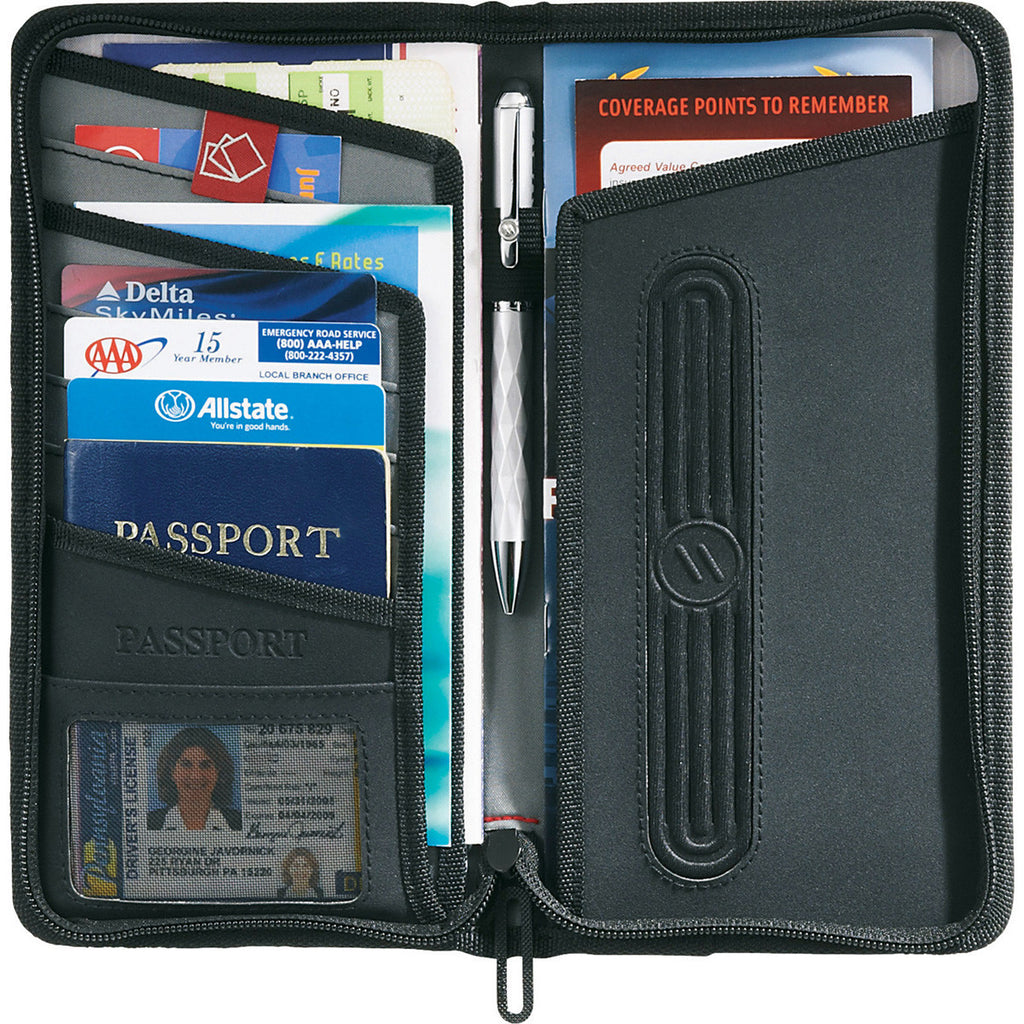 Elleven Black Traverse RFID Travel Wallet
