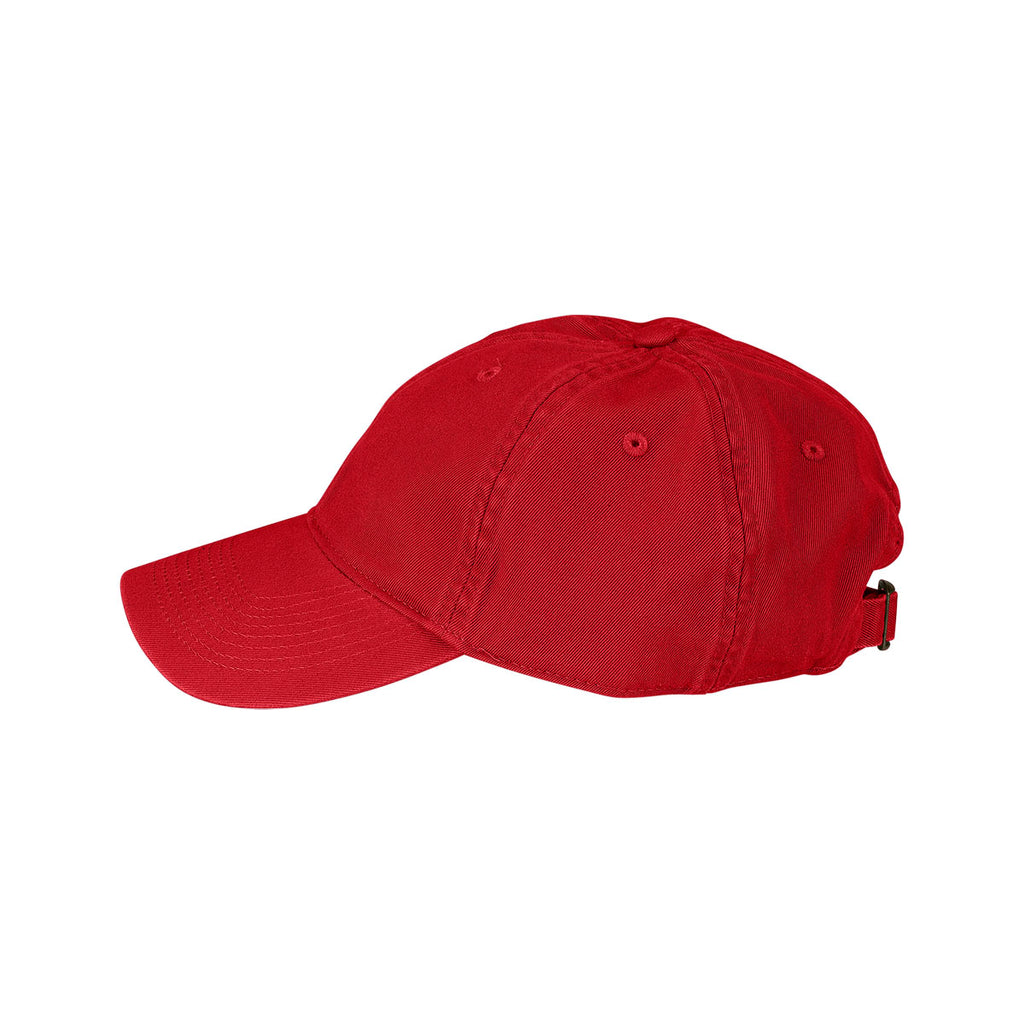 Vantage Men's Red Clutch Bio-Washed Unconstructed Twill Cap
