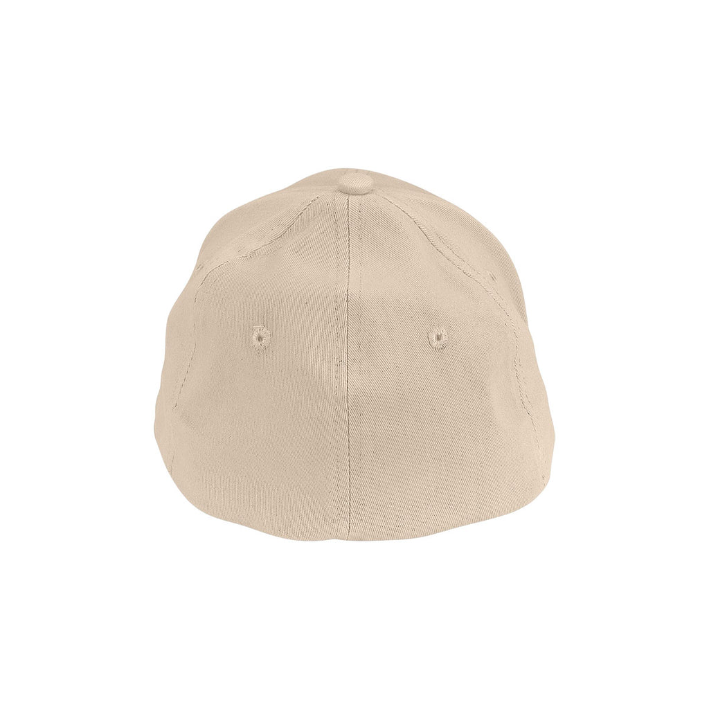 Vantage Men's Khaki Clutch Solid Stretch Fitted Constructed Twill Cap