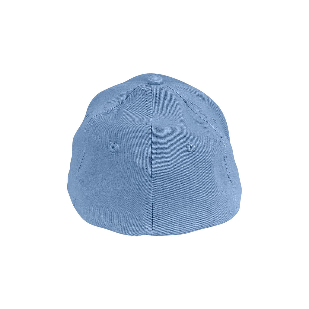 Vantage Men's Light Blue Clutch Solid Stretch Fitted Constructed Twill Cap