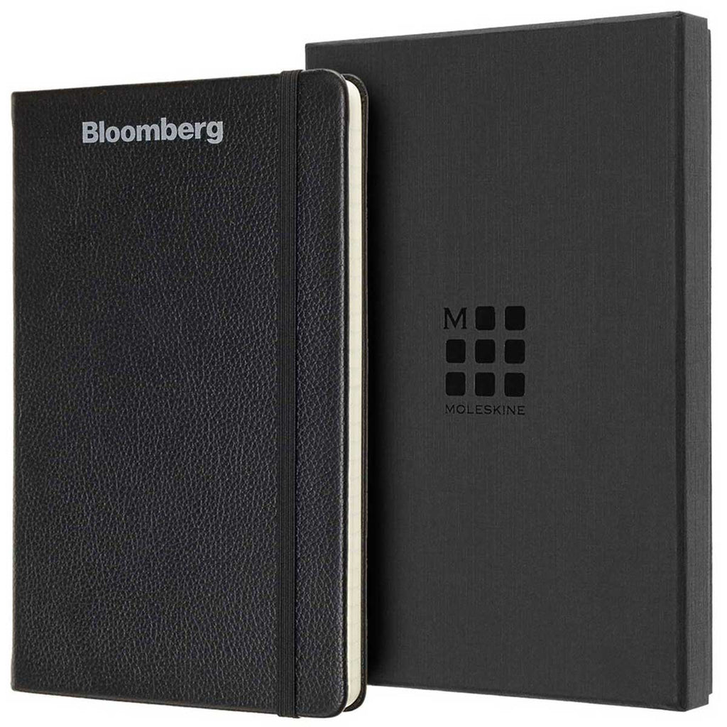 Moleskine Black Leather Ruled Large Notebook