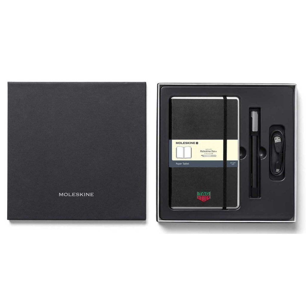 Moleskine Black Smart Writing Set with Ruled Paper and Ellipse Pen