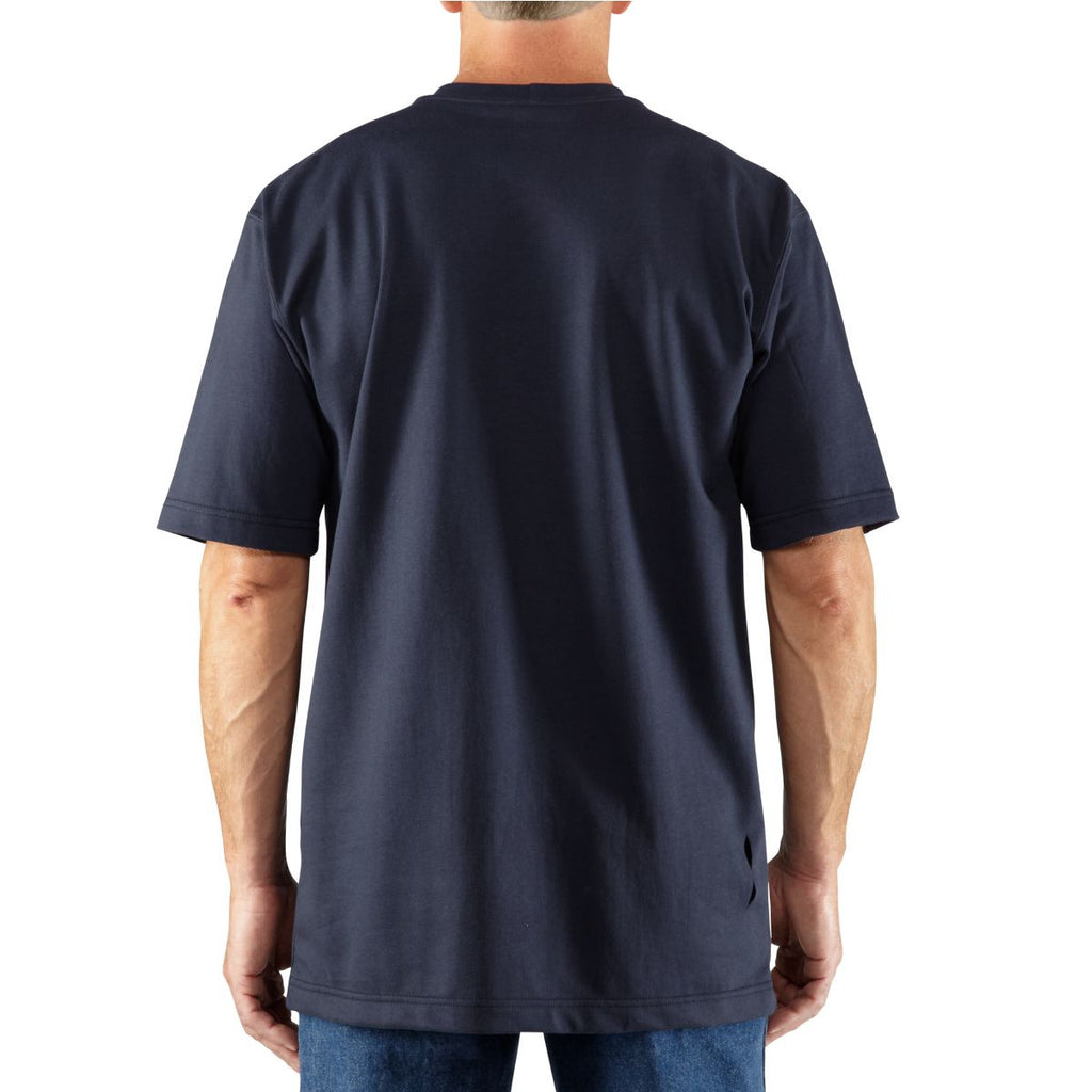 Carhartt Men's Dark Navy Flame-Resistant Force Cotton Short Sleeve T-Shirt