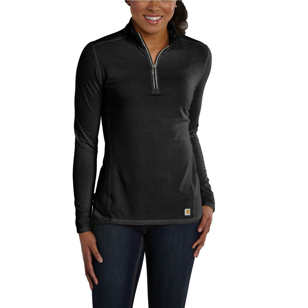 Carhartt Women's Black Force Quarter Zip Shirt