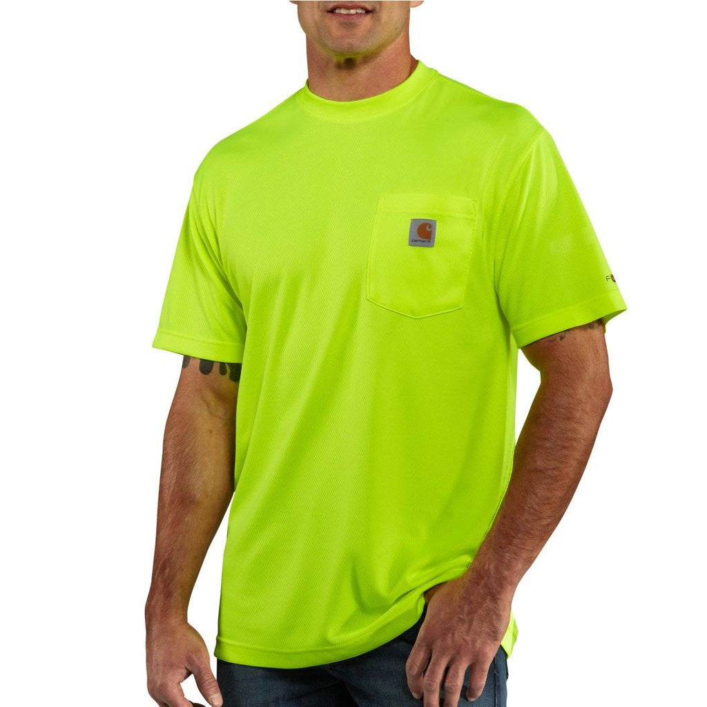 Carhartt Men's Brite Lime High Visibility Force Color Enhanced Short Sleeve Tee