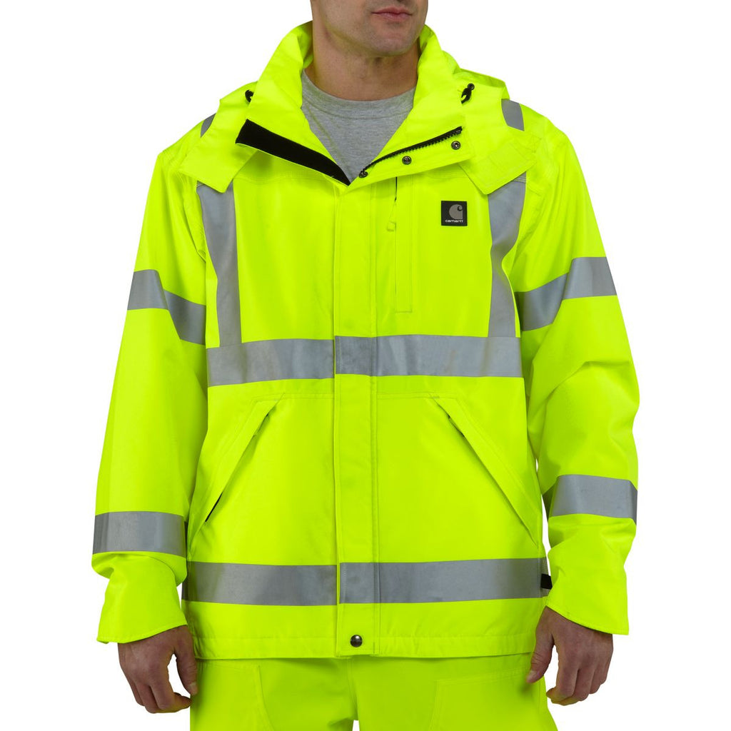 Carhartt Men's Brite Lime High Visibility Class 3 Waterproof Jacket