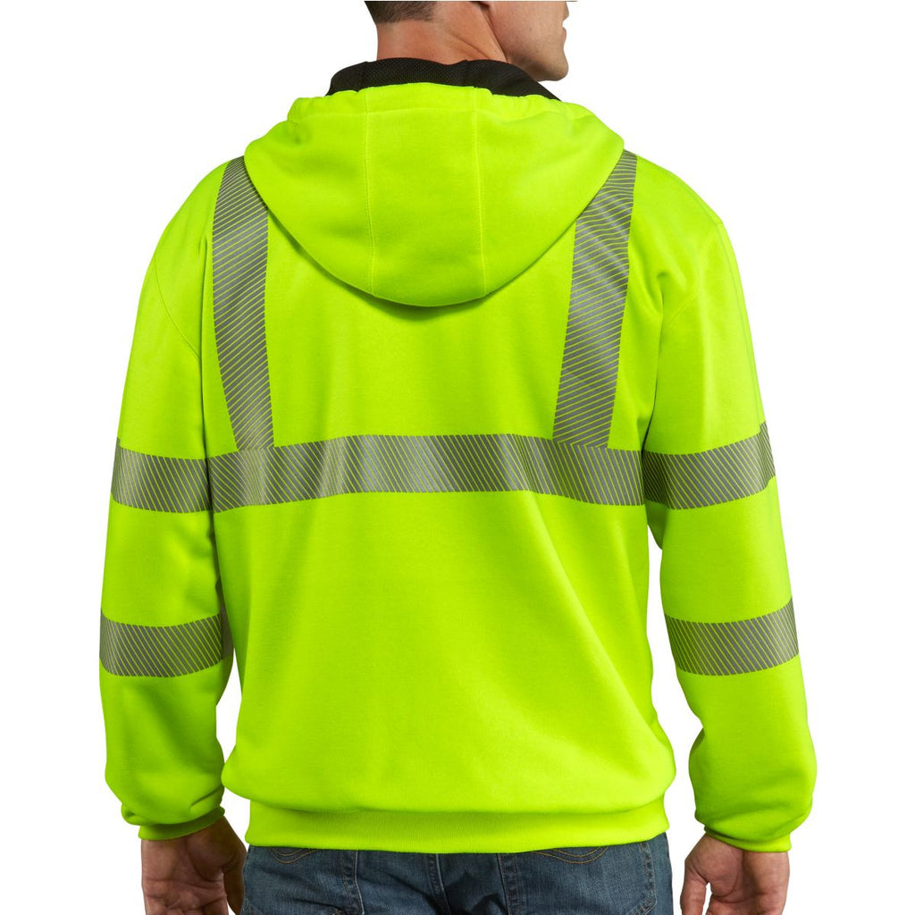 Carhartt Men's Brite Lime High Visibility Class 3 Thermal Sweatshirt