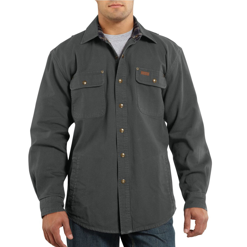 Carhartt Men's Gravel Weathered Canvas Shirt Jacket