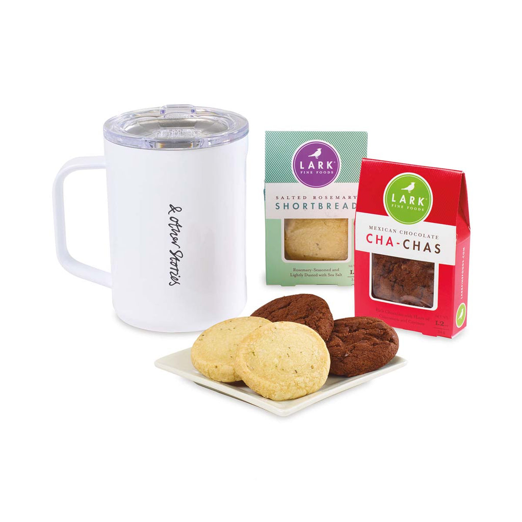 Corkcicle White Sip Indulge Cookie Gift Set